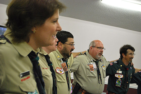 Every meeting ends with the Gilwell song.